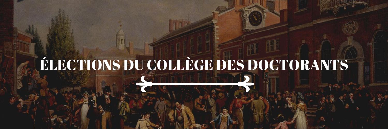 élections collège doctorants